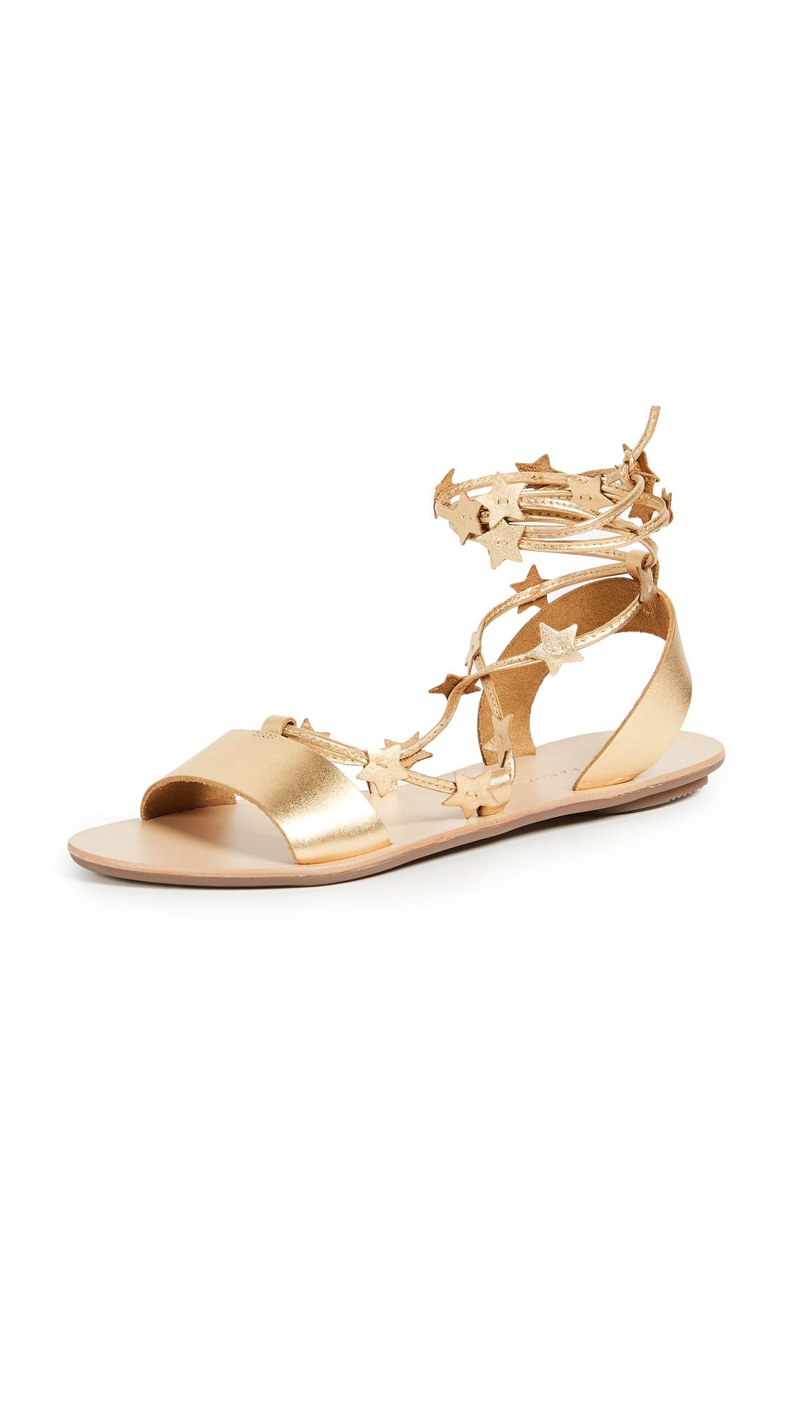 Loeffler Randall Starla Flat Sandals - Pale Gold