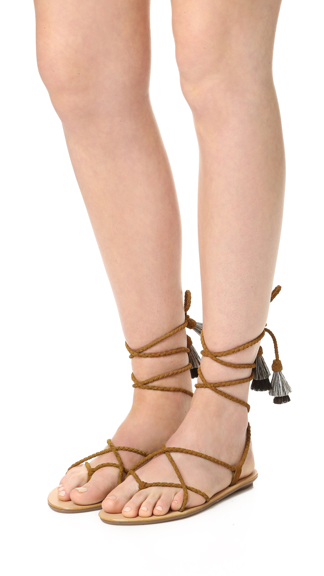 free shipping Inexpensive buy cheap 2014 unisex Loeffler Randall Leather Wrap-Around Sandals authentic online yxsdK