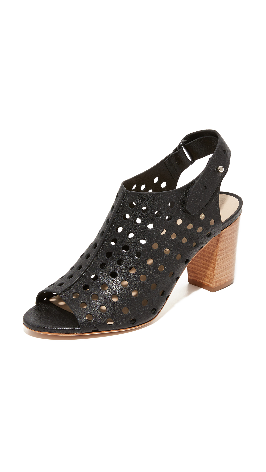 Loeffler Randall Alix Perforated Sandals - Black