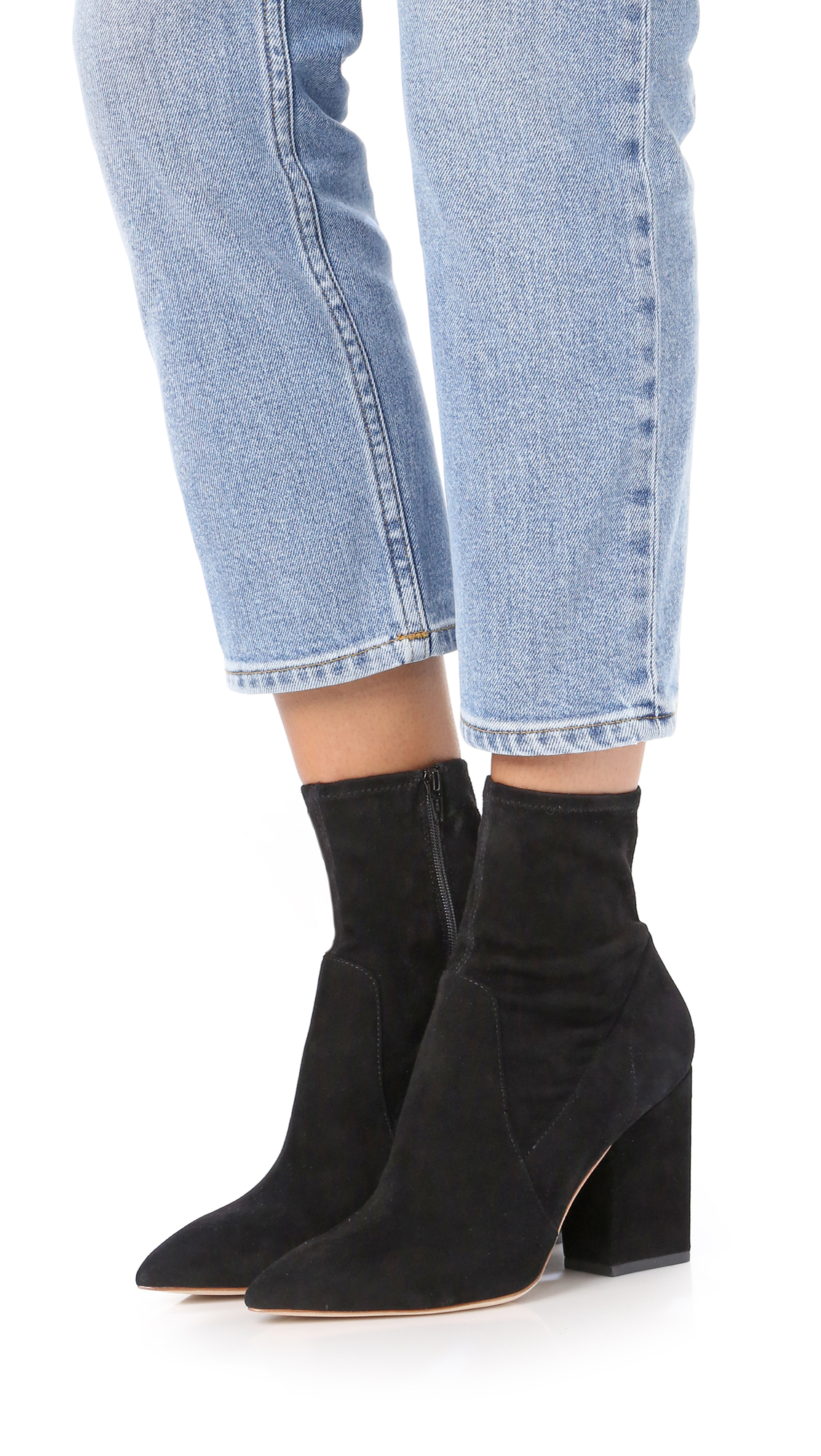Loeffler Randall Pointed-Toe Suede Booties outlet clearance store sale for cheap u8UUcJA