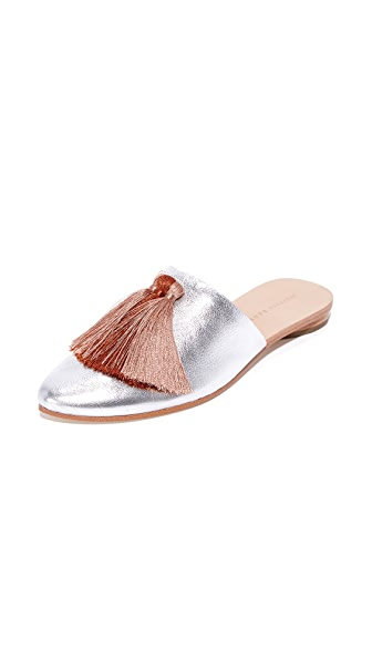 Loeffler Randall Winnie Tassel Slippers - Silver/Pink Clay