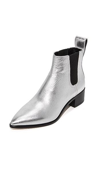 Loeffler Randall Nellie Chelsea Booties - Silver