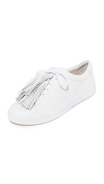 Loeffler Randall Logan Tassel Sneakers - Optic White