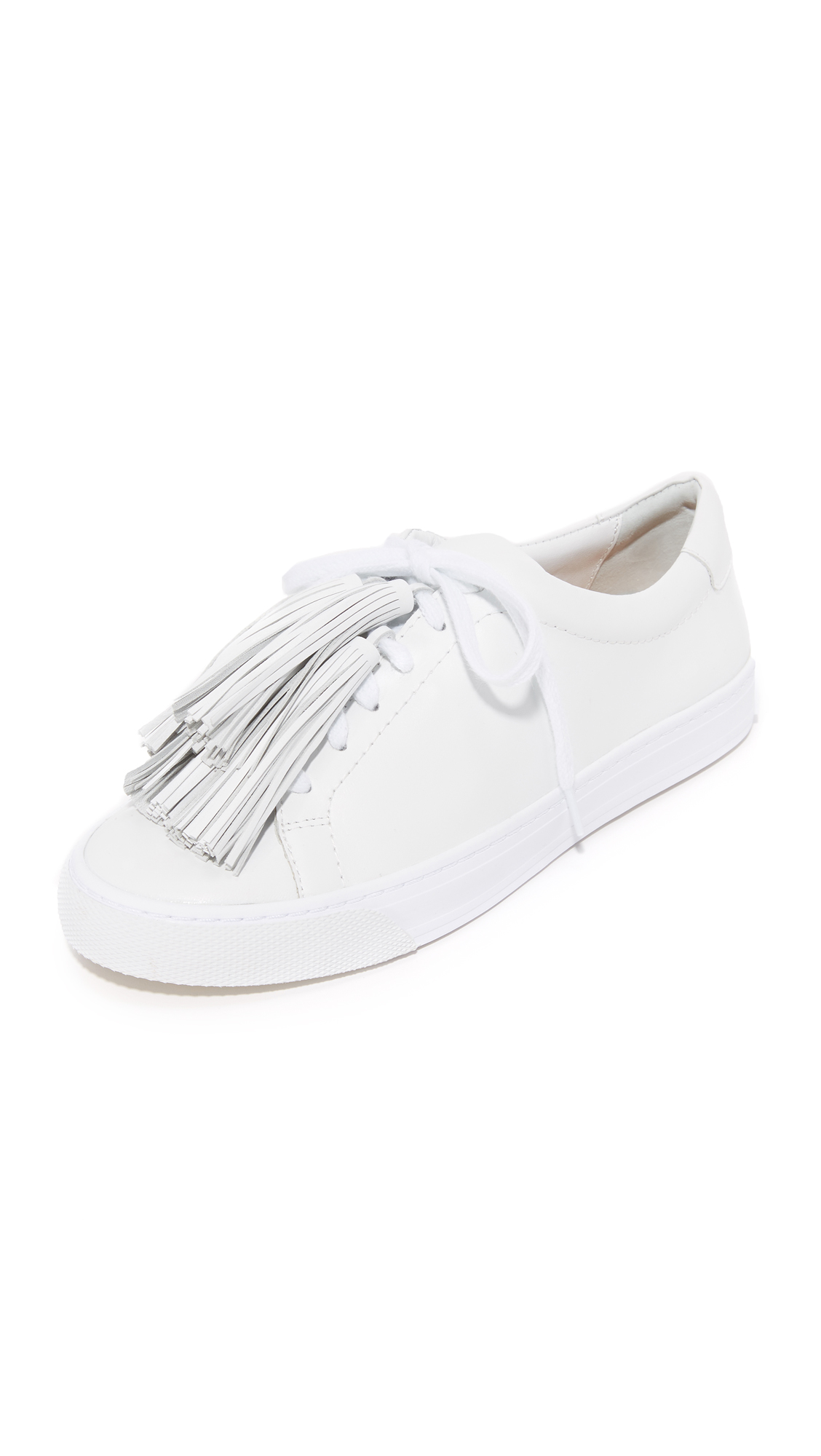 Loeffler Randall Logan Tassel Sneakers - Optic White