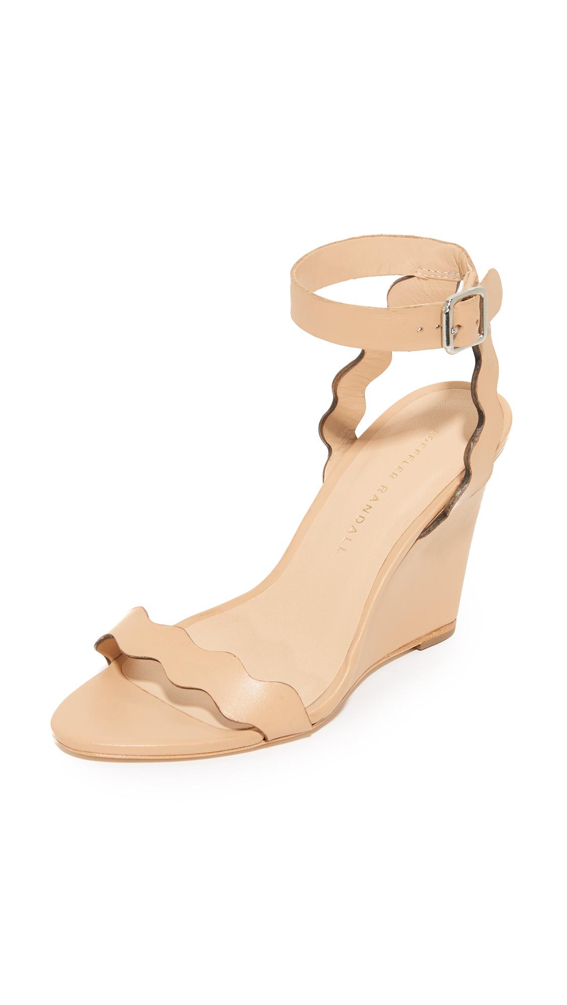 Loeffler Randall Piper Wedge Sandals - Wheat
