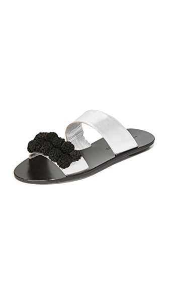 Loeffler Randall Clem Sandals - Silver/Black