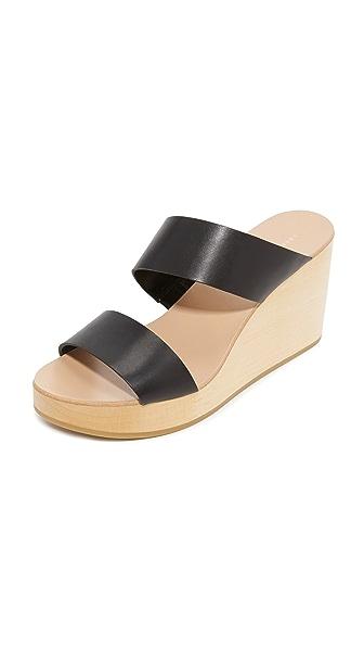 Loeffler Randall Mason Wedge Sandals - Black