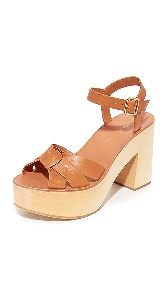 Loeffler Randall Elsa Platform Sandals - Light Cuoio