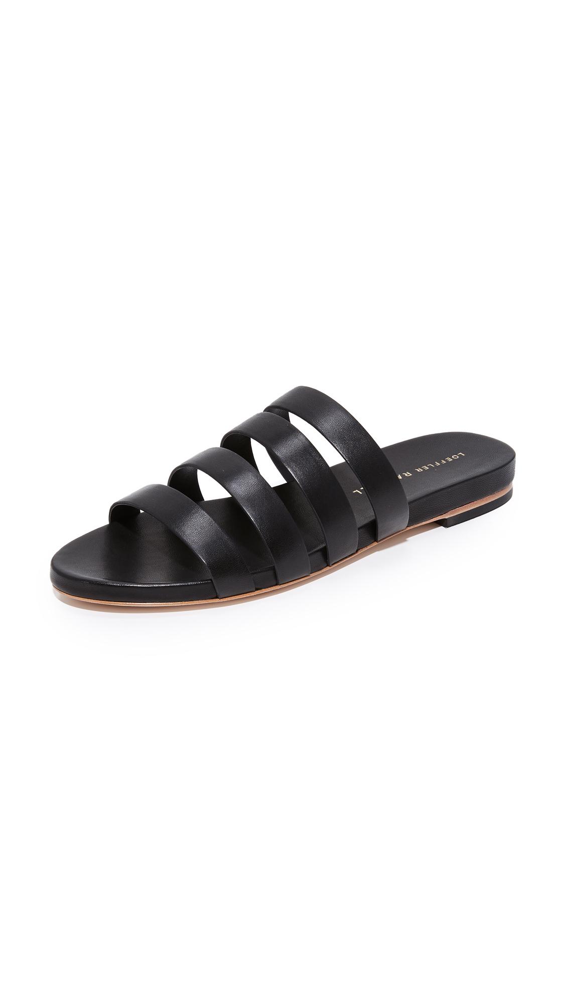 Loeffler Randall Casper Slides - Black