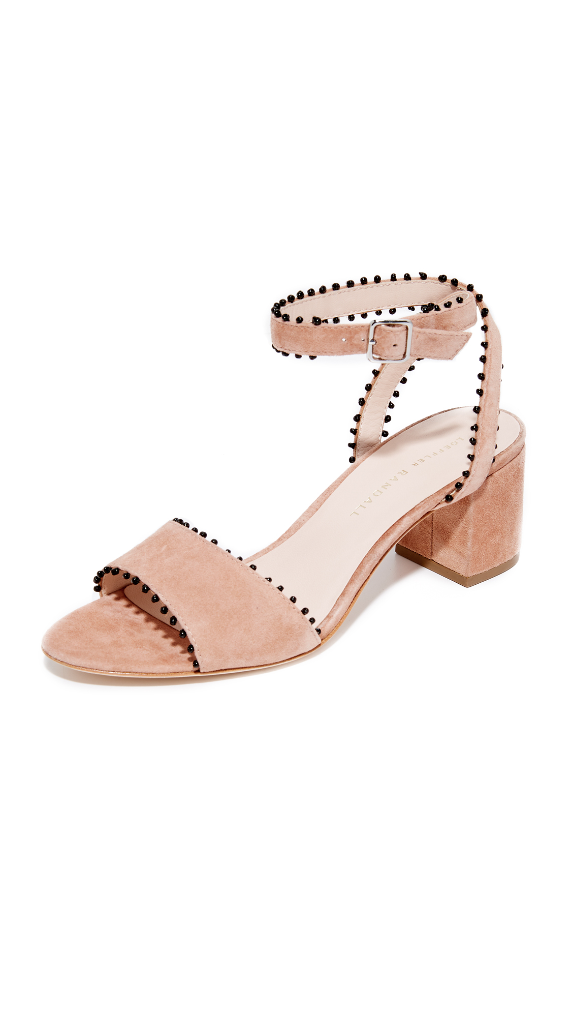 Loeffler Randall Eryn City Sandals - Deep Blush/Black