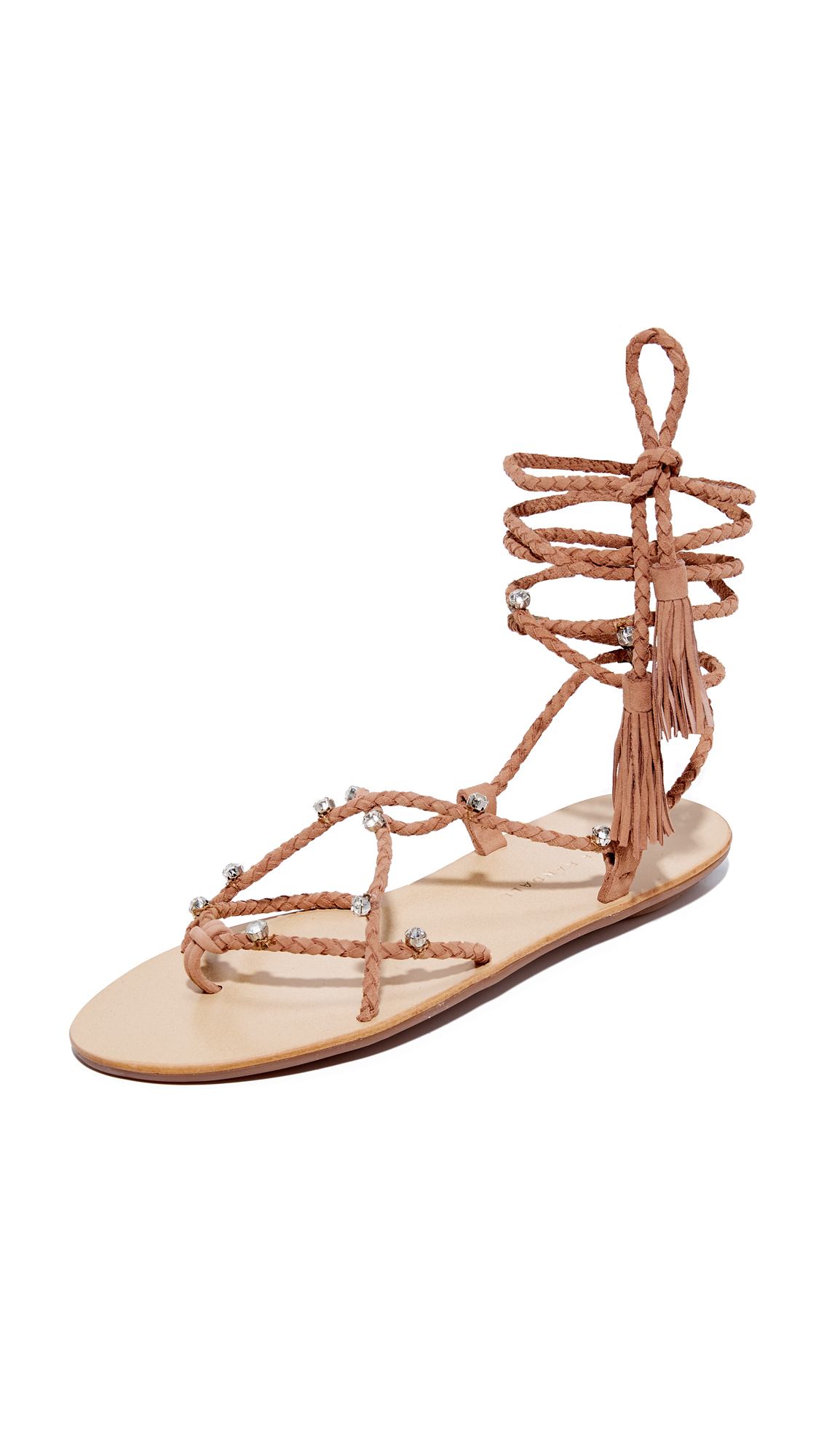 Loeffler Randall Bo Wrap Sandals - Deep Blush