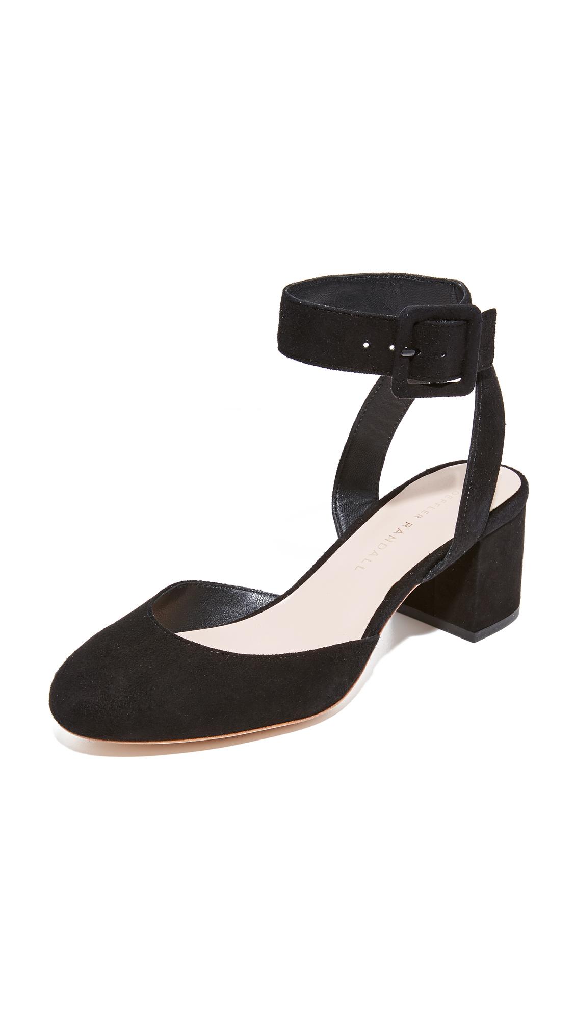 Loeffler Randall Cami Ankle Strap Pumps - Black