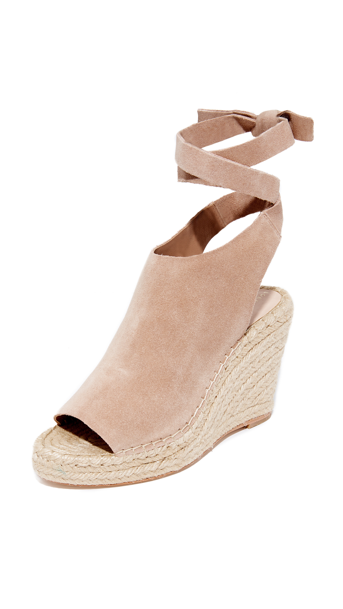 Loeffler Randall Lyra Wrap Wedges - Deep Blush