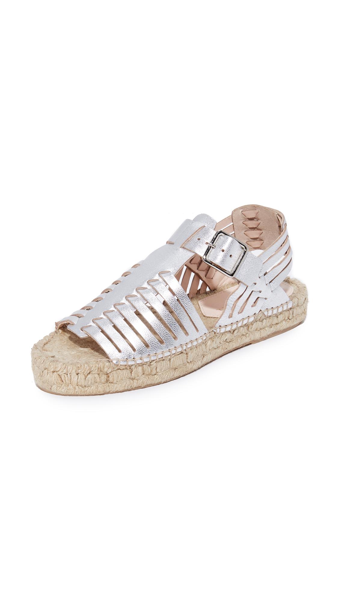 Loeffler Randall Reid Platform Sandals - Silver