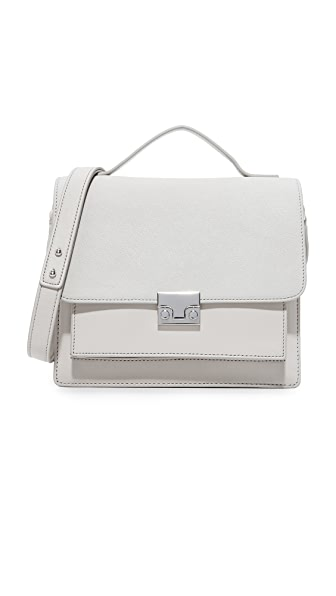 Loeffler Randall Minimal Rider Satchel - Light Grey/Light Grey