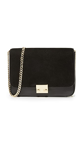 Loeffler Randall Lock Shoulder Bag - Black/Black