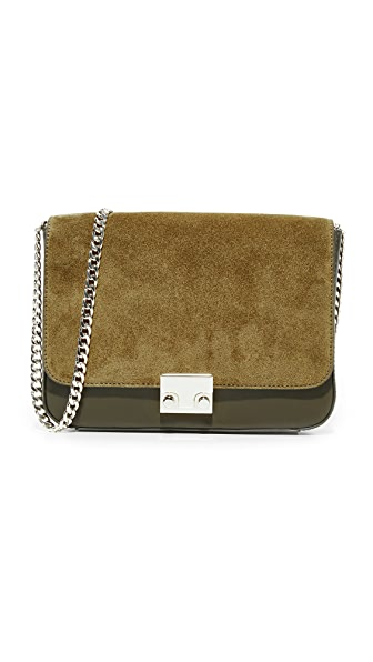 Loeffler Randall Lock Shoulder Bag - Moss/Moss