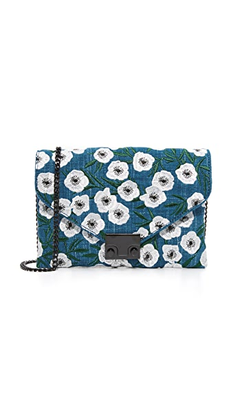 Loeffler Randall Embroidered Jr Lock Clutch