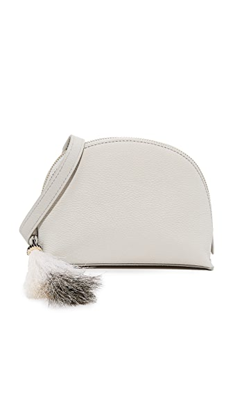 Loeffler Randall Cross Body Pouch - Light Grey/Blonde