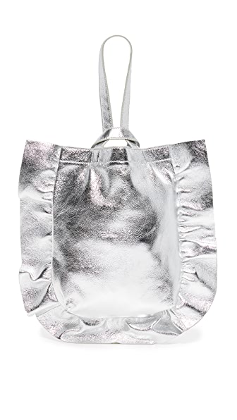 Loeffler Randall Ruffle Wristlet - Silver