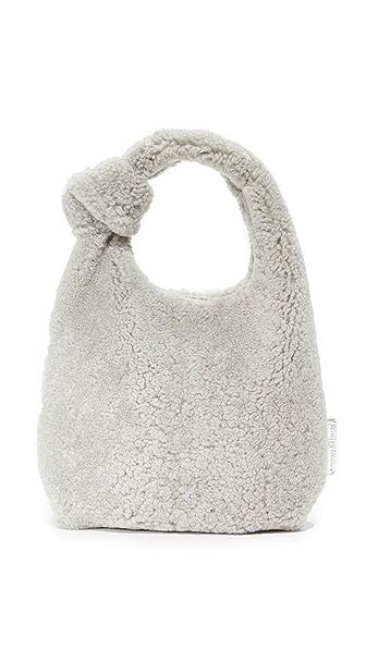 Loeffler Randall Mini Knot Tote - Light Grey
