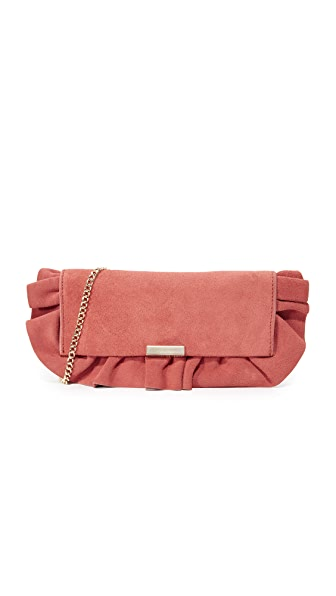 Loeffler Randall Tab Clutch - Dusty Rose