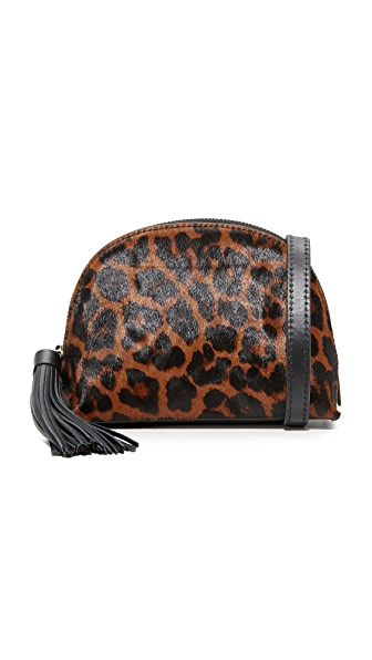 Loeffler Randall Cross Body Pouch In Leopard/Black