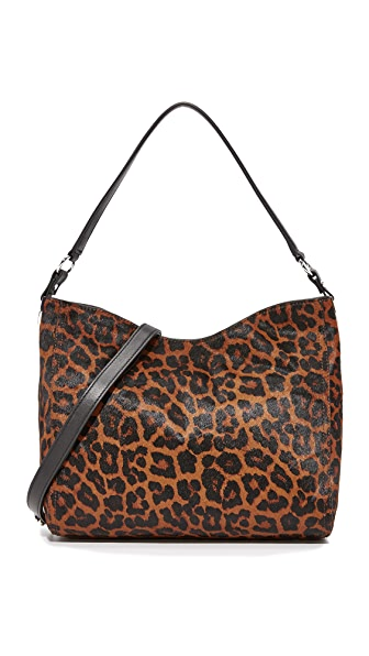 Loeffler Randall Mini Hobo Bag - Leopard/Black