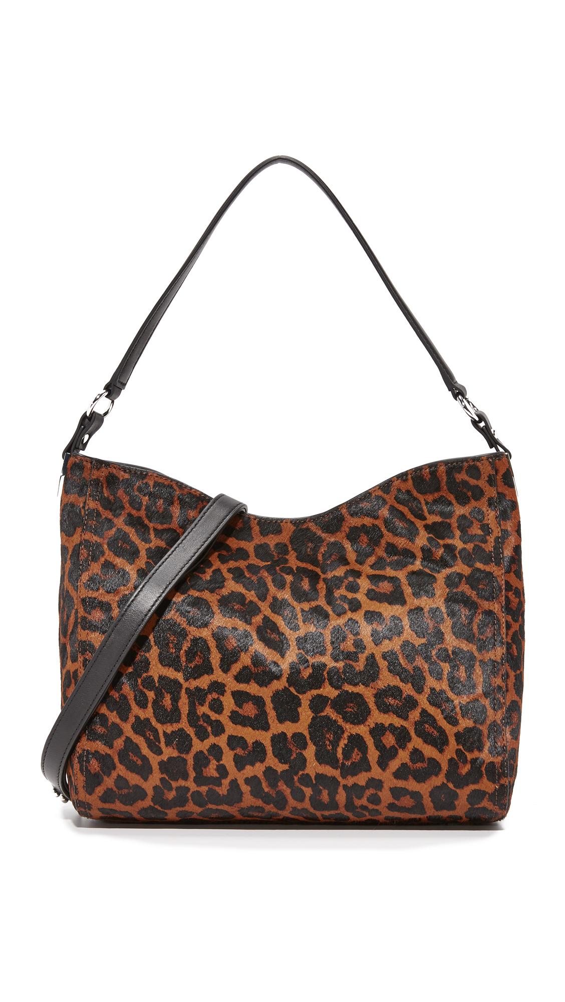 Loeffler Randall Mini Hobo Bag - Leopard/Black