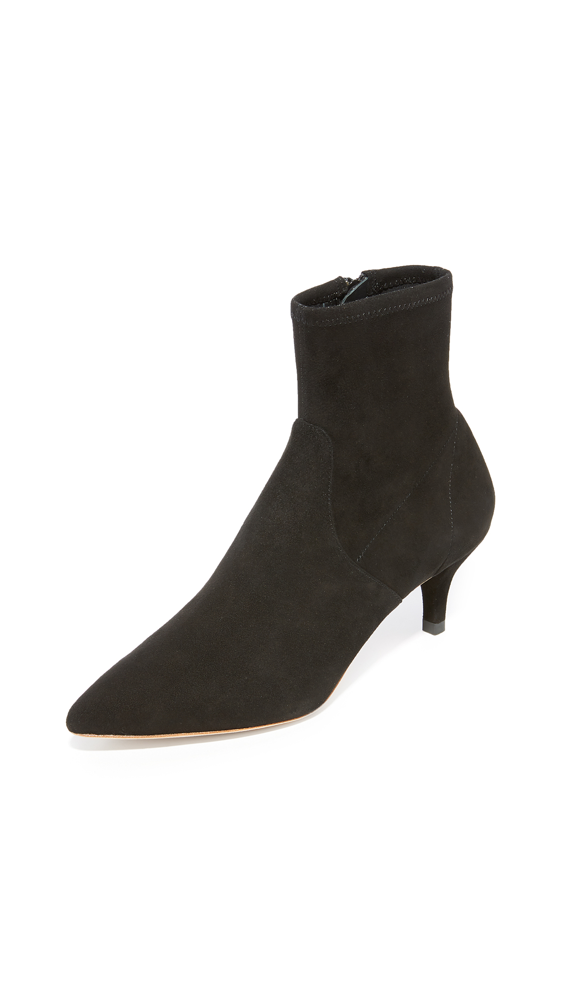 Loeffler Randall Kassidy Kitten Heel Stretch Booties - Black