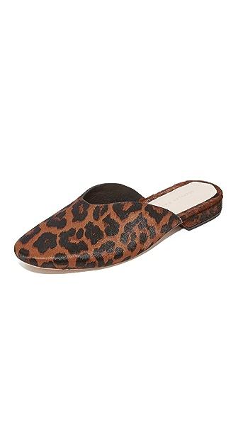 Loeffler Randall Quin Flat Mules - Leopard