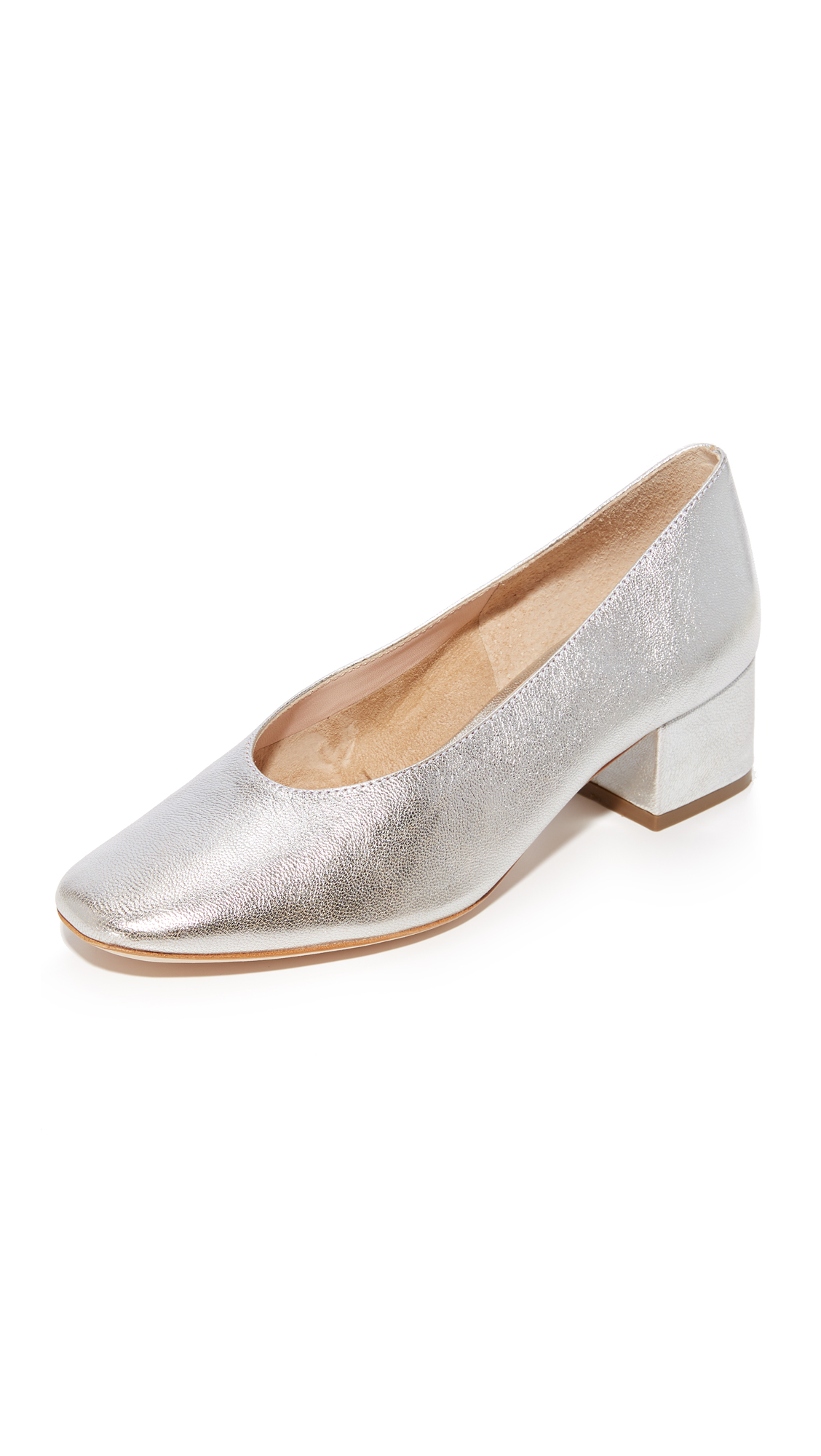 Loeffler Randall Brooks Low Heel Pumps - Silver