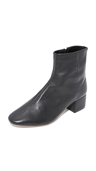Loeffler Randall Carter Low Heel Ankle Booties - Black