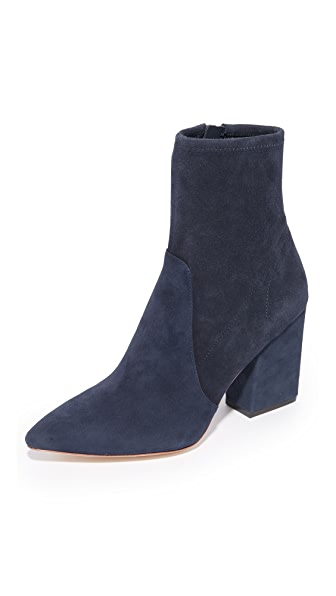 Loeffler Randall Isla Stretch Pointed Toe Booties In Eclipse