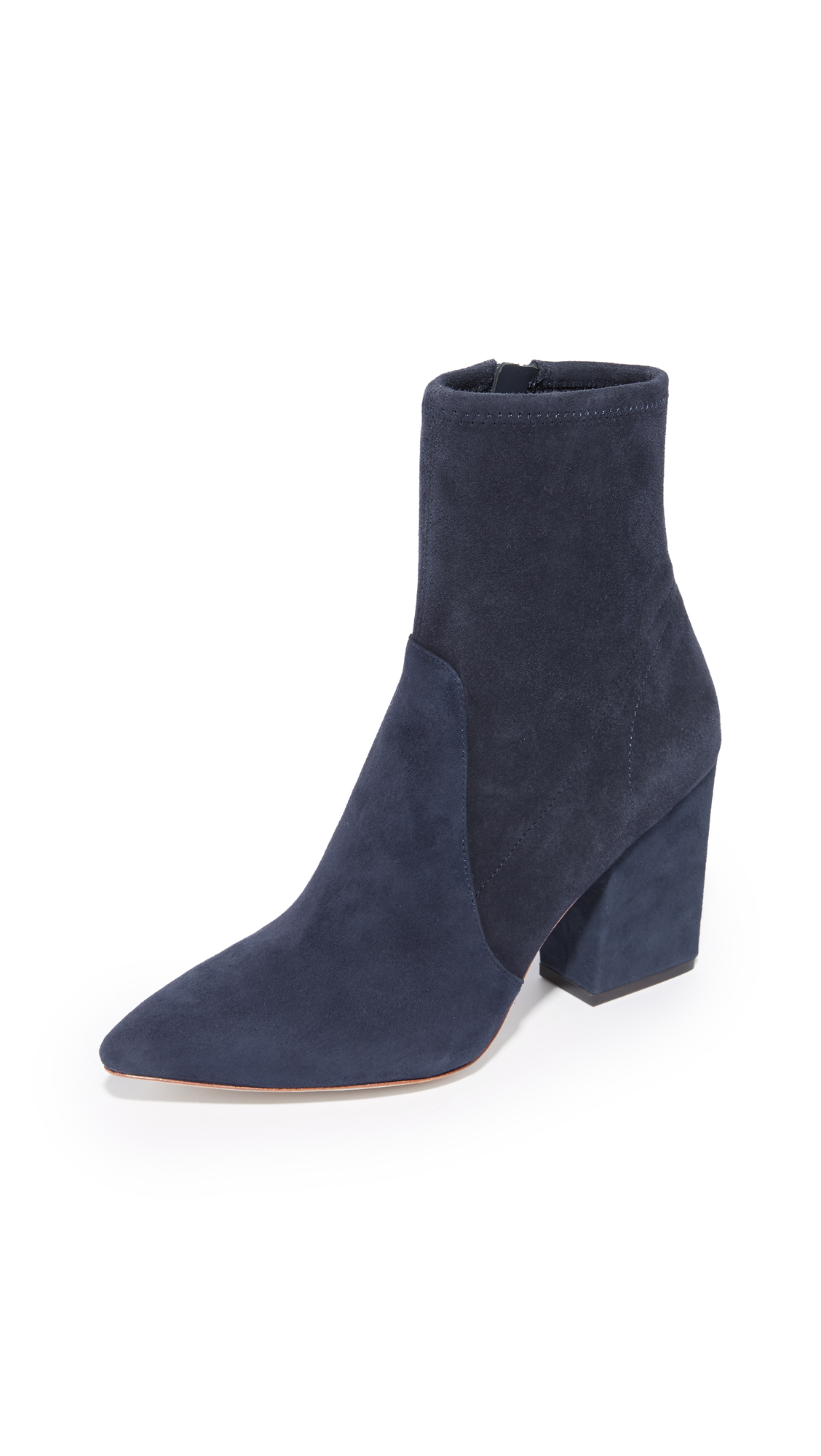 Loeffler Randall Isla Stretch Pointed Toe Booties - Eclipse
