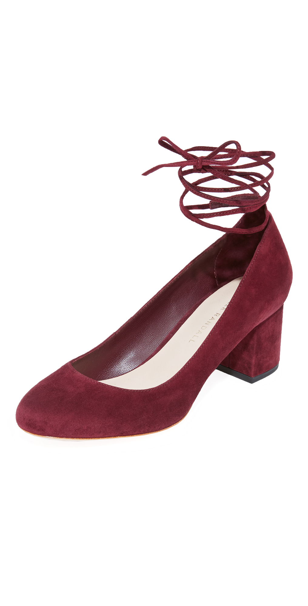 Clara Ankle Strap Low Heel Pumps Loeffler Randall