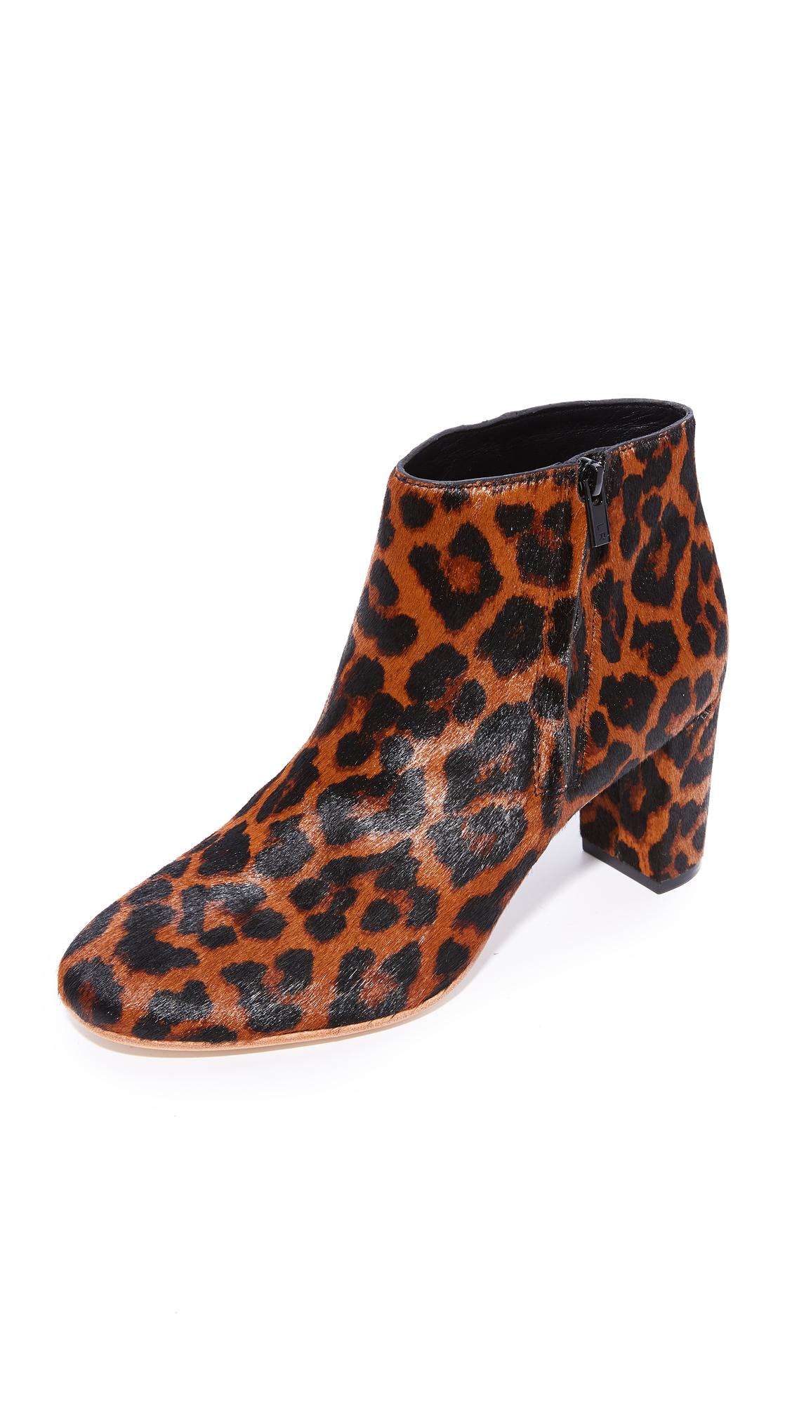 Loeffler Randall Greer Ankle Booties - Leopard