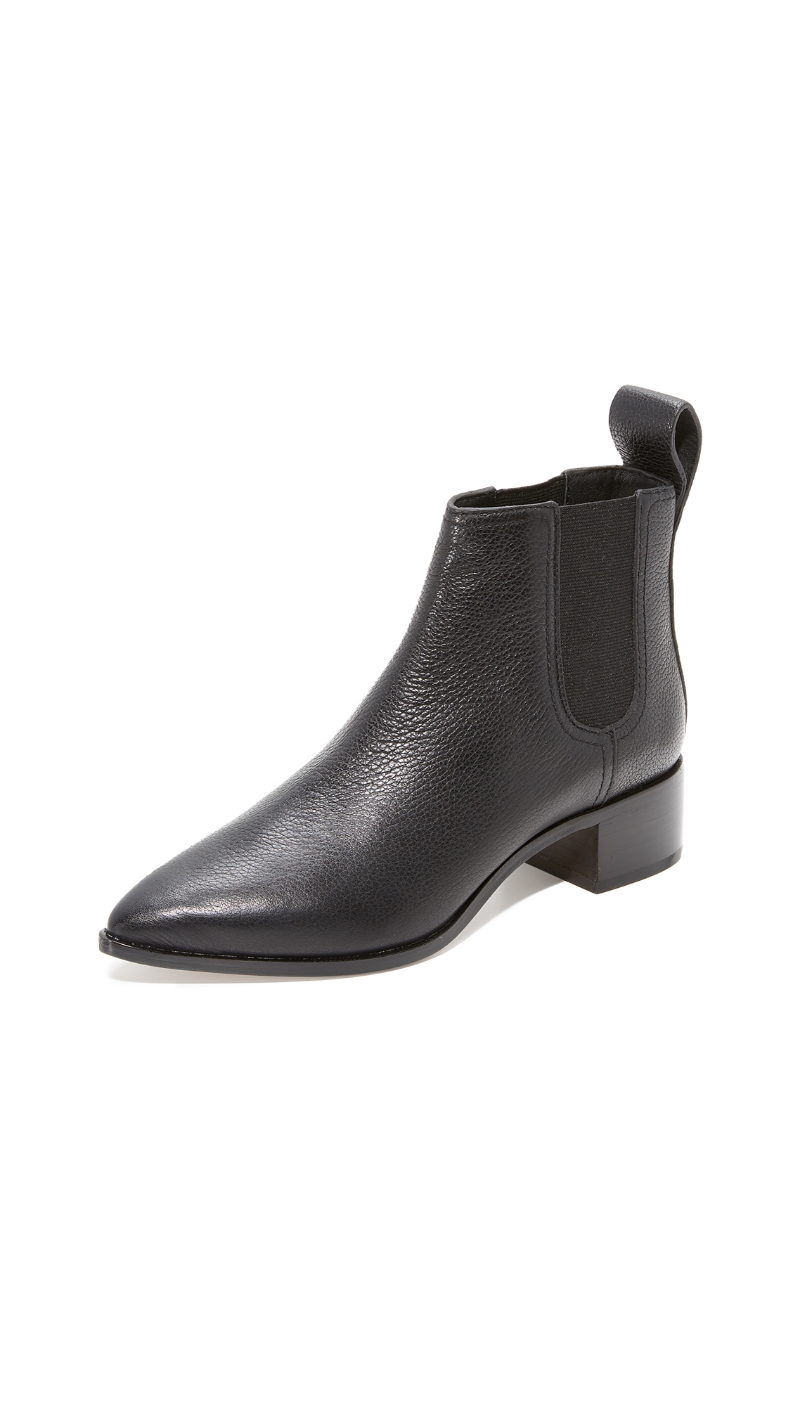 Loeffler Randall Nellie Pointed Toe Chelsea Booties - Black