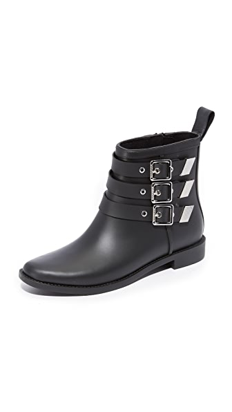 Loeffler Randall Nash Buckled Rain Booties