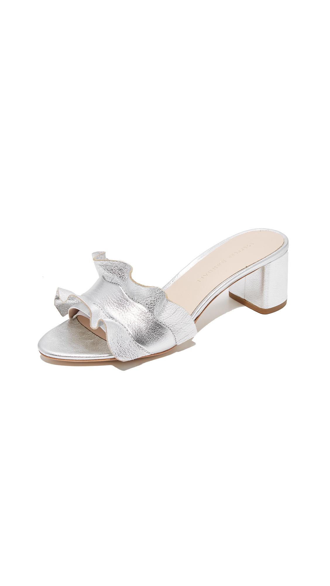 Loeffler Randall Vera City Slides - Silver