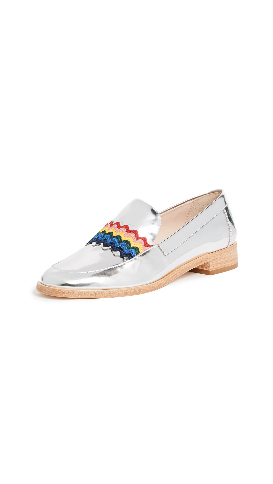 Loeffler Randall Greta Loafers - Silver/Rainbow