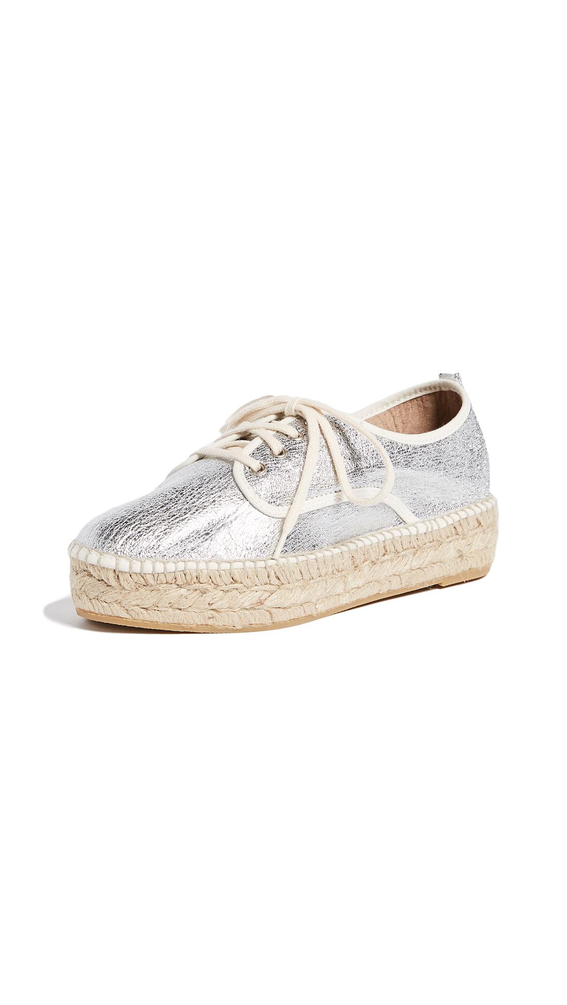 Loeffler Randall Alfie Espadrille Sneakers - Silver