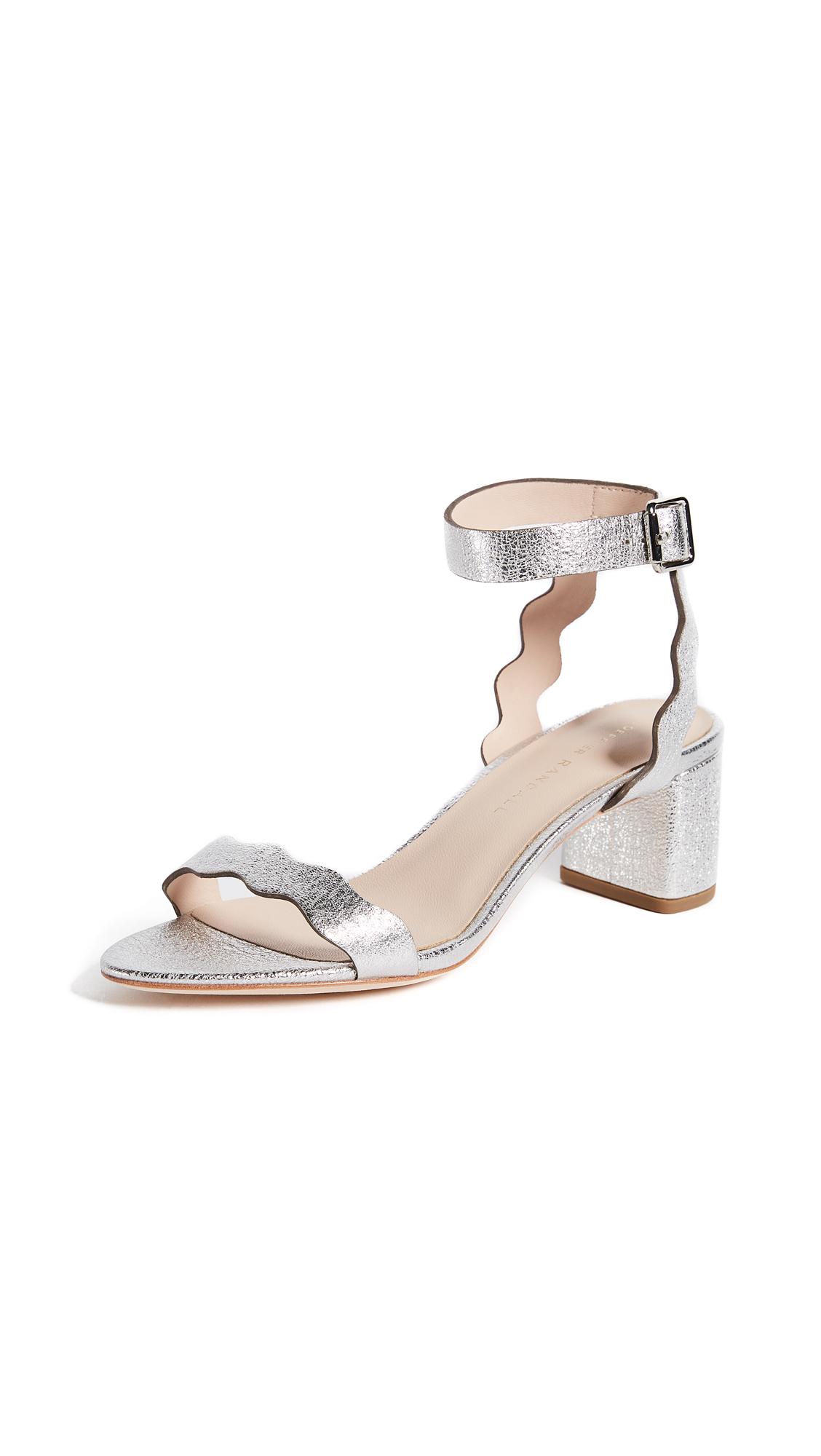Loeffler Randall Emi City Sandals - Silver