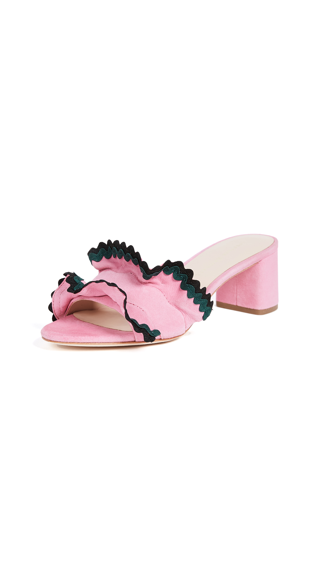 Loeffler Randall Vera City Slide Sandals - Peony/Multi