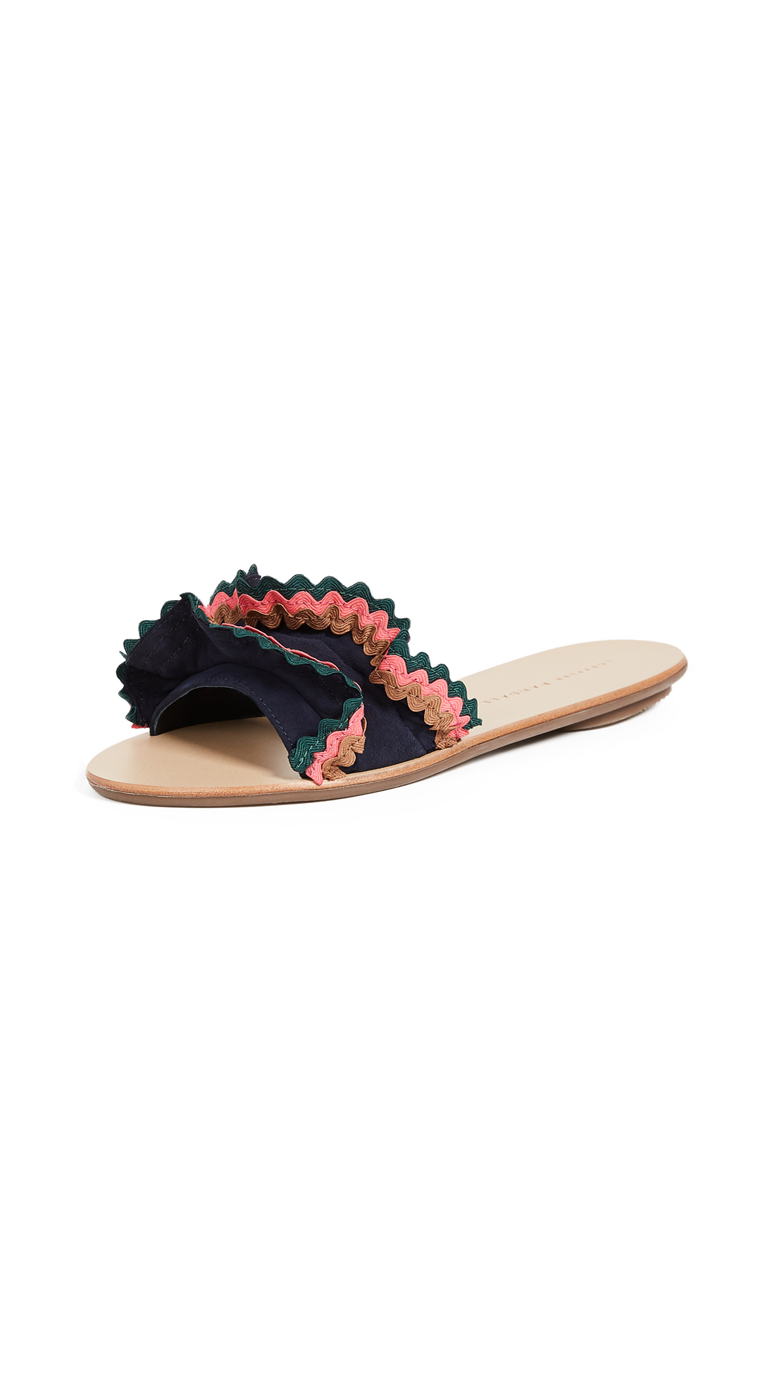 Photo of Loeffler Randall Birdie Ruffle Slides - buy Loeffler Randall shoes