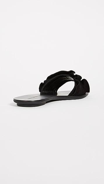 Loeffler Randall Birdie Ruffle Slides