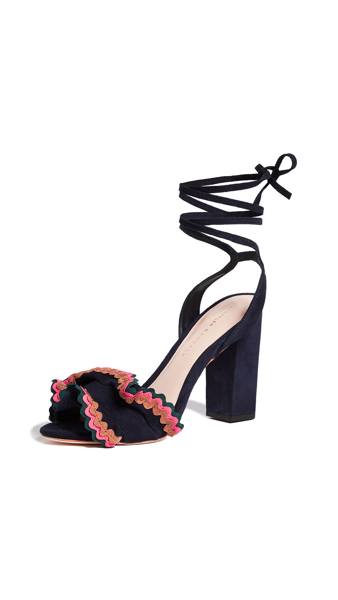Loeffler Randall Dot Wrap Sandals - Eclipse/Multi