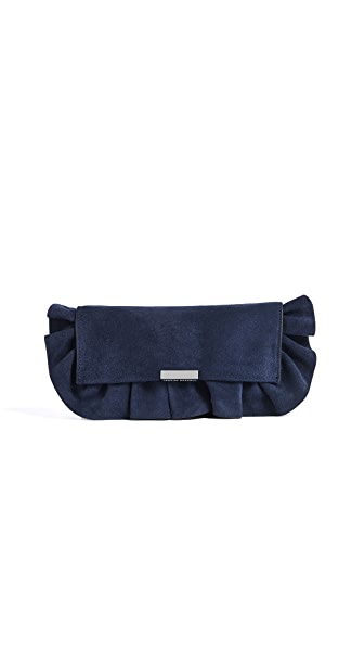 Loeffler Randall Ruffled Tab Clutch In Eclipse