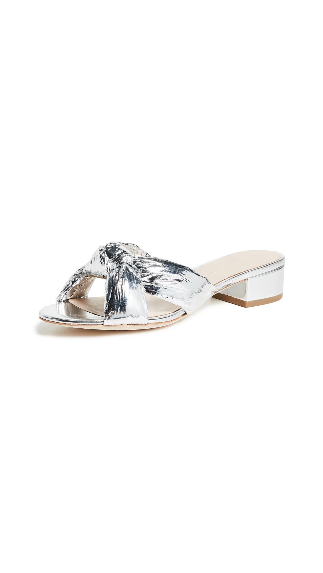 Elsie Knotted Slide Sandal, Silver