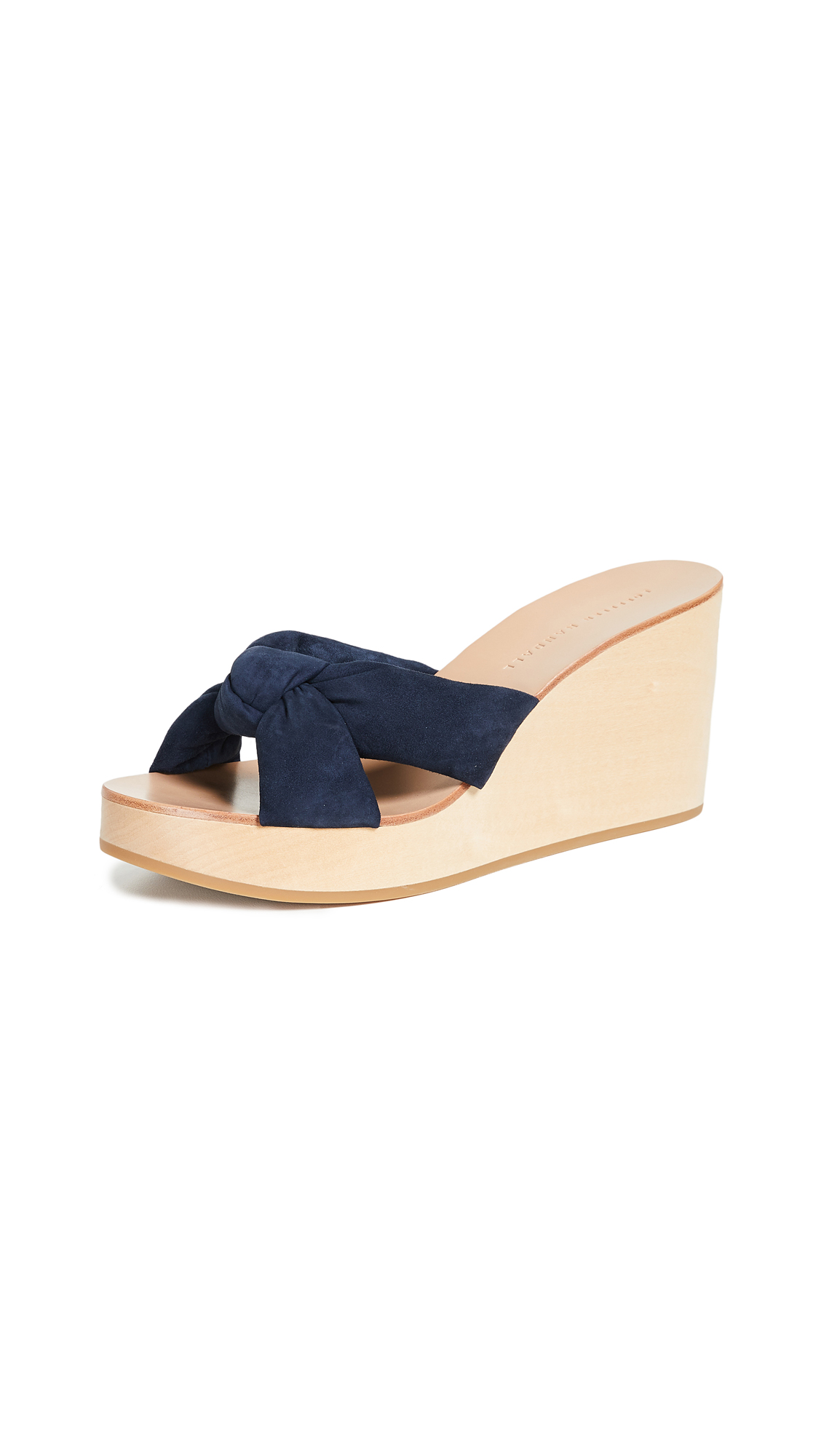 Loeffler Randall Taylor Wedge Mules - Eclipse